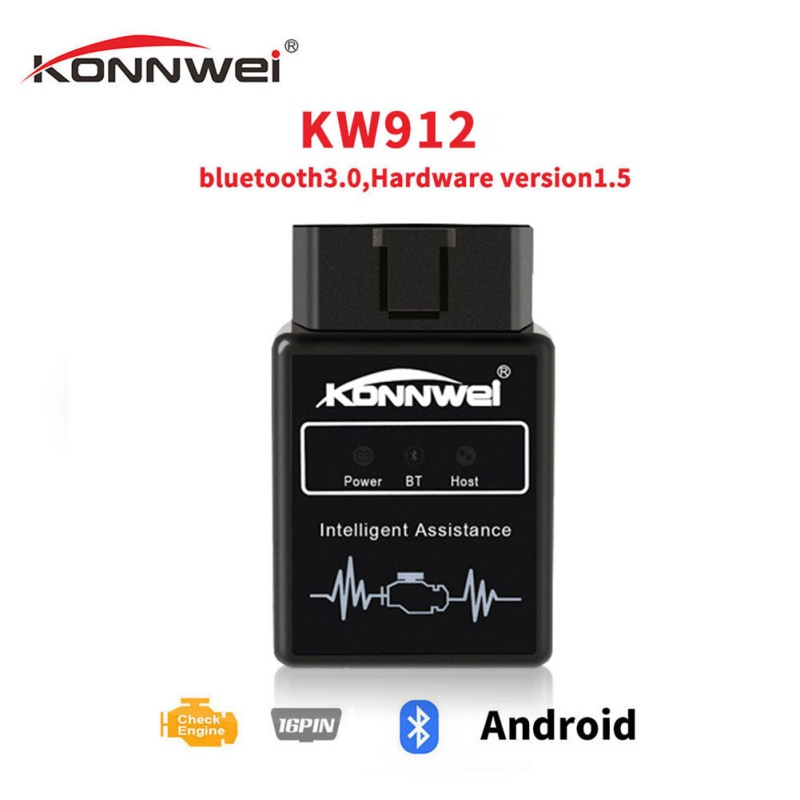 KONNWEI KW912 ELM327 Bluetooth Obd2 v1.5 Scanner Auto Diagnose-Tool Code Reader Scan OBD2 Automotive Auto Obd2 Werkzeuge