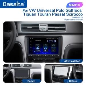 "Image 3 - Dasaita 9"" IPS Screen 1 Din Car Radio Android 10 Carplay for VW GPS Polo Golf Eos Tiguan Seat leon Passat Car Stereo TDA7850"