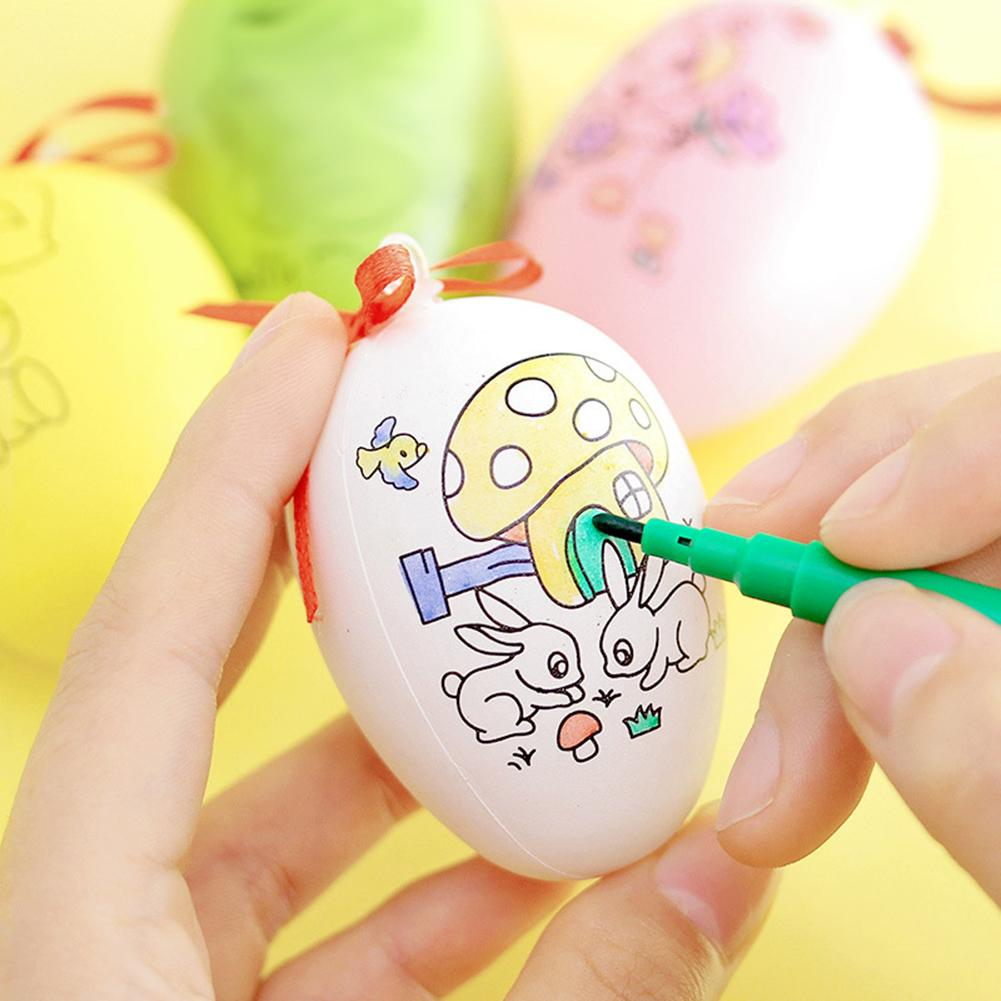 Funny Hand Painted Easter Eggs Pen DIY Painting Hanging Decor Kids Children Toy Develops Children's Imaginationgood Easter Gifts