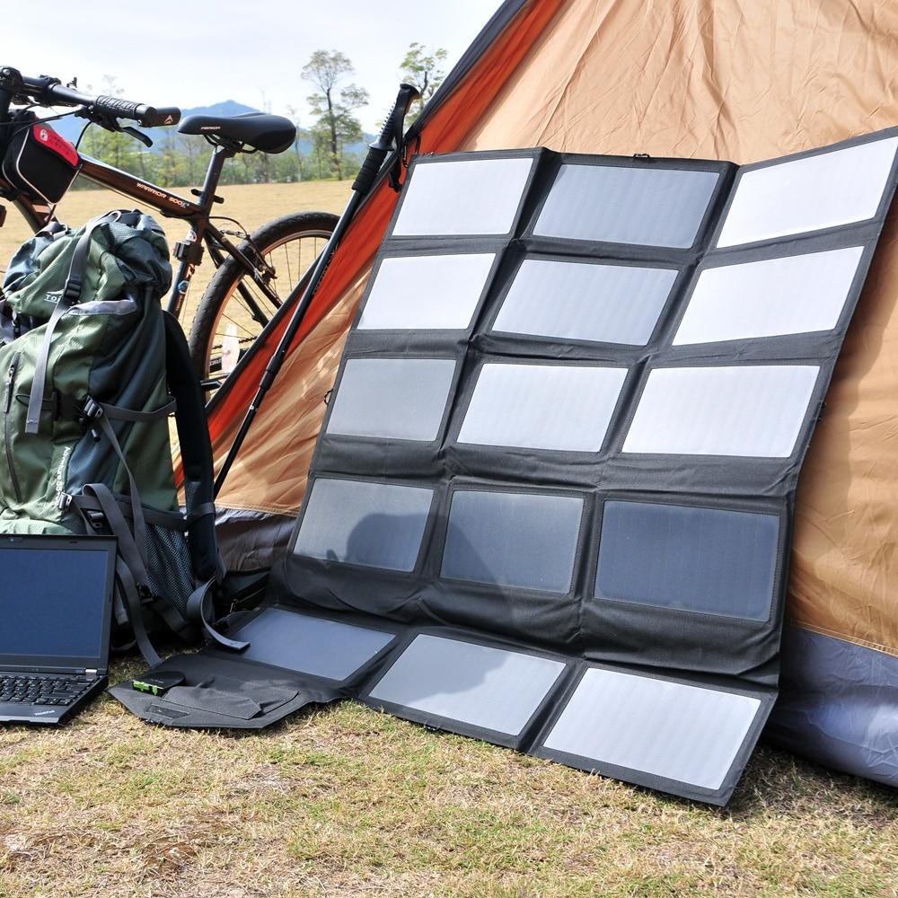 Allpowers 100 w carregador solar portátil do painel solar para a estação de energia da bateria do veículo do lg hp dell 12 v do ipad do iphone samsung. - 5