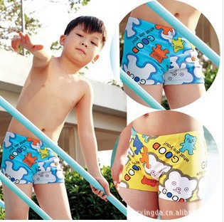 Cute Cartoon Bear CHILDREN'S Swimming Trunks Boxer Swimming Trunks BOY'S Boxer Shorts Boy Swimming Shorts
