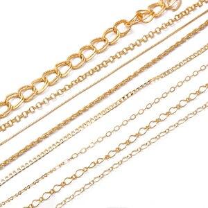 18K Золото 1 м/шт. Медный позолоченный крест ожерелье змейки цепи оптом набор «сделай сам» для бижутерии, материал для изготовления материалы ручной работы свадебные принадлежности 055 Ювелирная фурнитура и компоненты      АлиЭкспресс