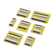 Гибкая плоская плата удлинителя кабеля FPC FFC, 2 шт., шаг 0,5 мм, 4, 6, 8, 10, 12, 14, 20, 30, 40, 50-контактный разъем