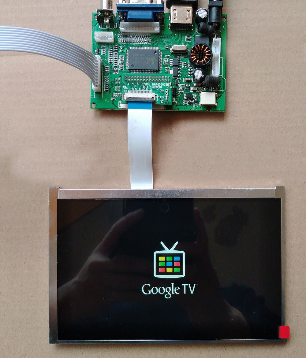 7inch 1280*<font><b>800</b></font> IPS LCD With Driver Board USB Touch Sensors, digitizer Win7 8 10 Raspberry Pi <font><b>3</b></font> hsd070pww1 image