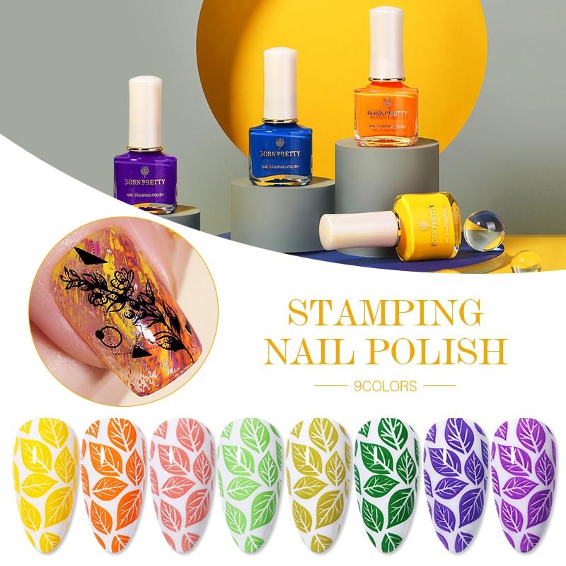 От BORN PRETTY-стемпинг ногтей покрытие яркий Цвет для пластины для стемпинга-сделай сам печать изображения нейл-арта Лаки украшения Маникюр
