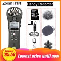 Original ZOOM H1N Handliche Recorder DSLR Audio Video Interview Stereo Mikrofon mit 16GB Karte BY-M1 Lavalier-mikrofon