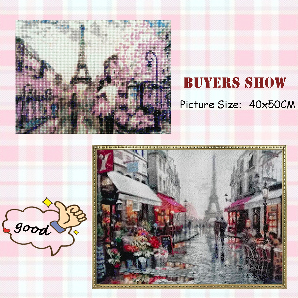 Evershine Diamond Embroidery Cross Stitch Street Diamond Painting Landscape 5D DIY Full Drill Mosaic Rhinestone Pictures Crafts-1