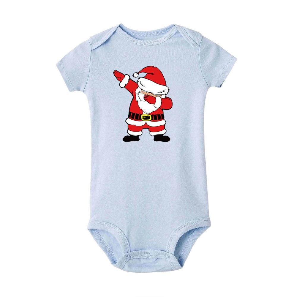 Sleeping Santa Claus Baby Short Sleeve Tees Unisex Cute Merry Christmas Cotton Baby Toddler T Shirt Tops