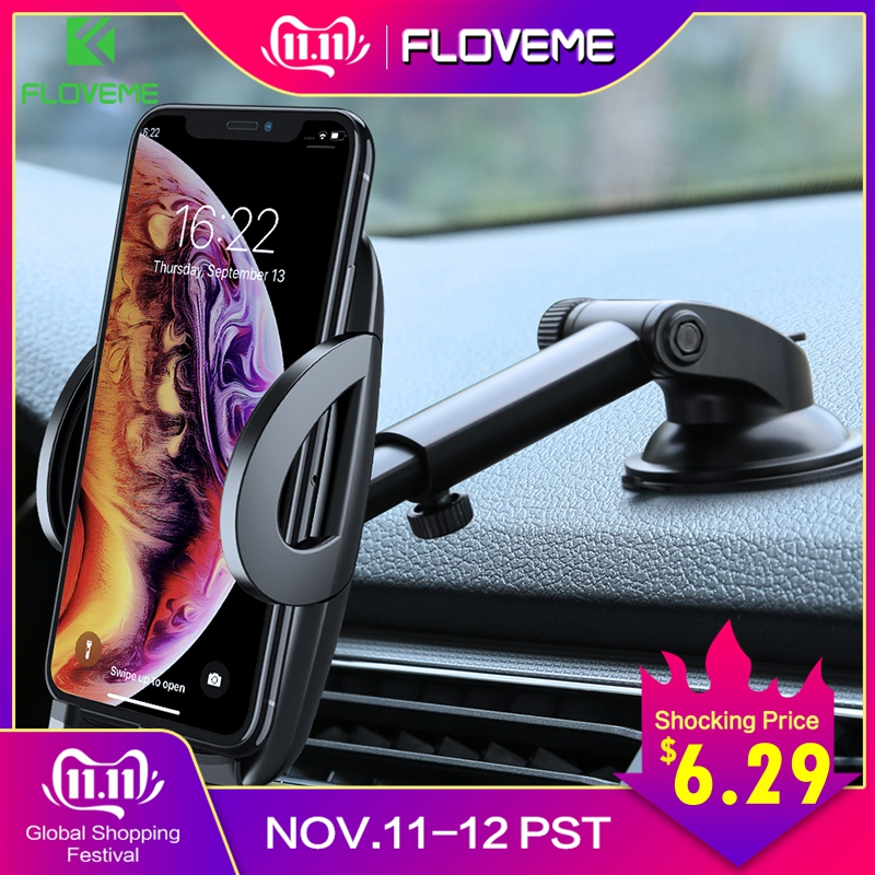 FLOVEME Car Phone Holder For iPhone XS MAX XR X Xiaomi 360 Rotate Dashboard Windshield Car Mount Mobile Holder For Phone Stand-in Phone Holders & Stands from Cellphones & Telecommunications