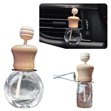 6ml Air Freshener Car Perfume Clip Fragrance Empty Glass Bottle For Essential Oils Diffuser Vent Outlet Ornament Car styling