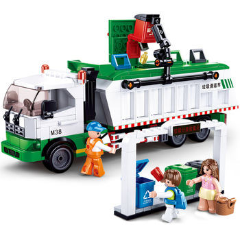 0780 432pcs city garbage classification truck 100 cards educational building blocks Toy