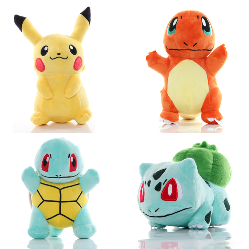 Pikachu Bulbasaur Squirtle Charmander Stuffed Toy Collection Hobby Plush Doll  Claw Machine Dolll Children's Day Event Gift