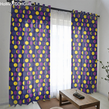 Boho Sheer Tulle Curtains Double Bedroom Sun and Moon Room Decoration Purple Kitchen