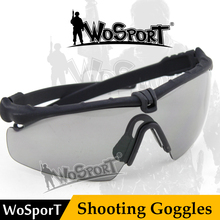 Wosport Army hot Mens Glasses Military Sports Tactical Ballistic Protection Goggles With Helmet For Wargame