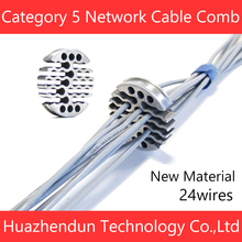 Comb Network-Cable Cable-Fixer Cat5 Category5 Tidy-Tool Arrangement Aluminum-Alloy/stainless-Steel