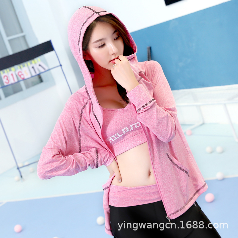 Autumn And Winter Hot Selling Yoga Jacket Korean-style Modern And Trendy/women Outdoor Sports Zipper Hoodie Fitness Jogging Suit
