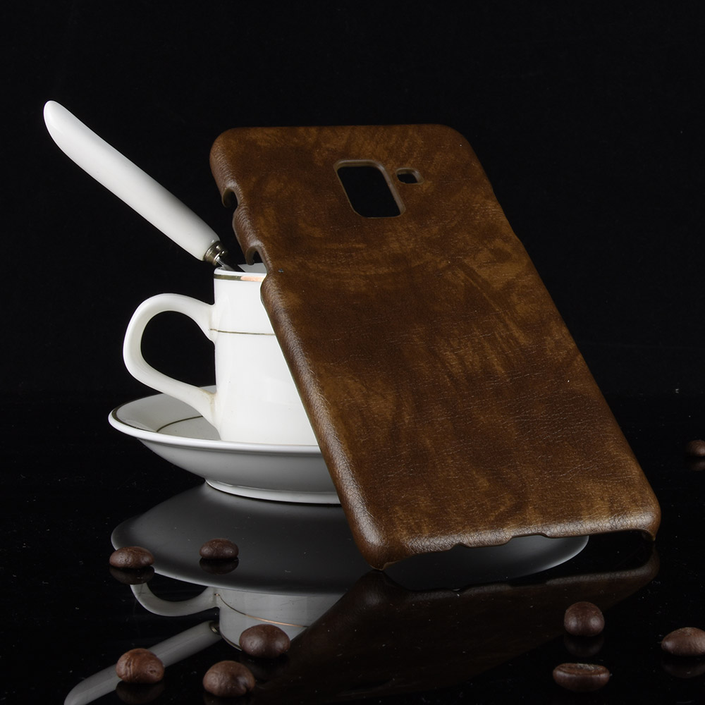 Litchi Carbon Case For Samsung Galaxy Note 9 A8 Plus A9 Star Pro Cover Leather PU Case For Samsung A9S A9 A8 A7 A5 2018 Case