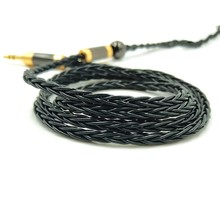 JCALLY 8Core 5N OFC Silver Plated Earphone Upgrade Line for KZ ZSX ZSNPRO ZS10PRO AS16 CCA C12 TFZ T2 IE TRN 0.75 0.78 2PIN MMCX
