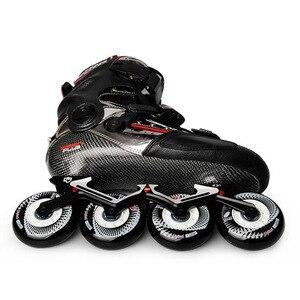 Image 3 - 2020 Original SEBA KSJ Shadow Professional Slalom Inline Skates Carbon Fiber Roller Skating Shoes Sliding Free Skating Patines