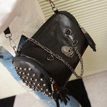 Women Skull Rivet Punk Shoulder Bags