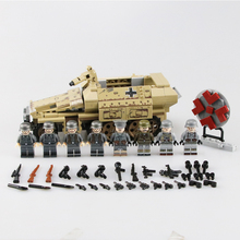 цена на Military WW2 German armored vehicle Building Blocks German WW2 army Figures Machine gunner weapon gun Helmet parts Bricks Toys