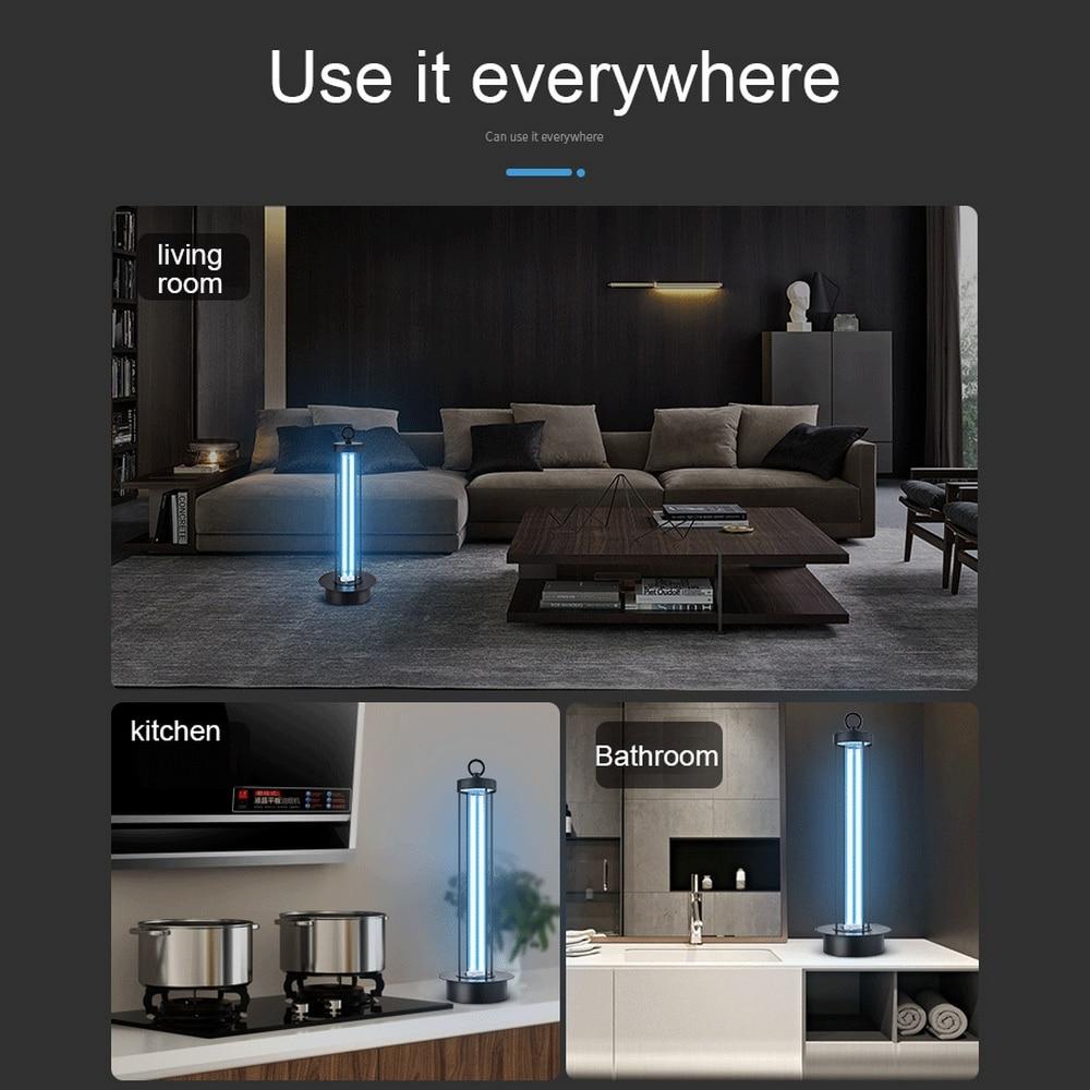 38W High Ozone UV Disinfection lamp 360 Degree Remote Ultraviolet Lamps UVC Germicidal Light Coronavirus Prevention Lights 29