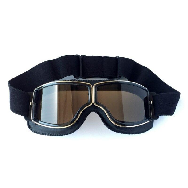 Universal Vintage Motorcycle Goggles Motorbike Scooter Biker Glasses Helmet Goggles Skiing Snowmobile Eyewear WW85
