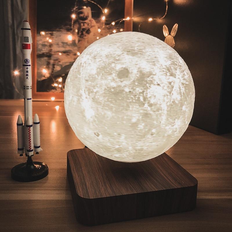 3d светодиодные светильники от noite levitao magntica estrela lua lmpada mars saturno toque nightlight decorao para casa para o кварто criativ
