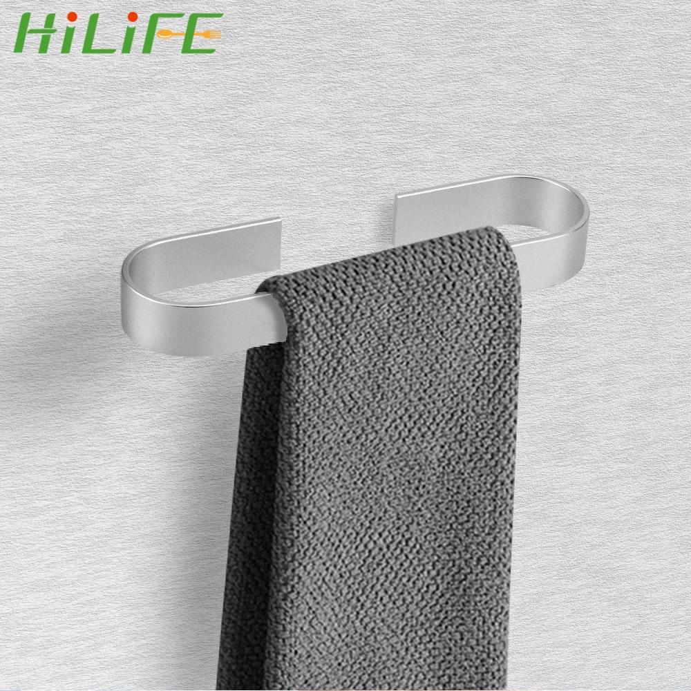 HILIFE полотенце держатель стена навесной вешалка органайзер пространство алюминий водонепроницаемый ванная полотенца вешалка вешалка кухня хранения вешалка
