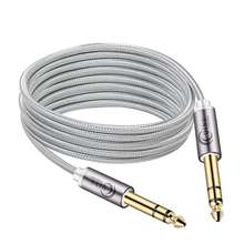 цена на 6.5mm Jack Audio Cable Nylon Braided 6.35 Jack Male to Male Aux Cable 1m 2m 3m 5m for Guitar Mixer Amplifier Bass 6.35 mm Cable