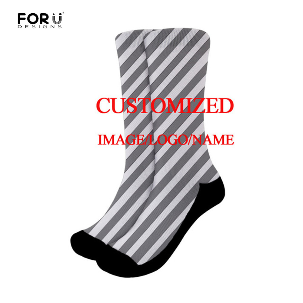 FORUDESIGNS 3D Print DIY Custom Design Men/Women Socks Casual Sports Running Sock Drop Shipping Wholesalers