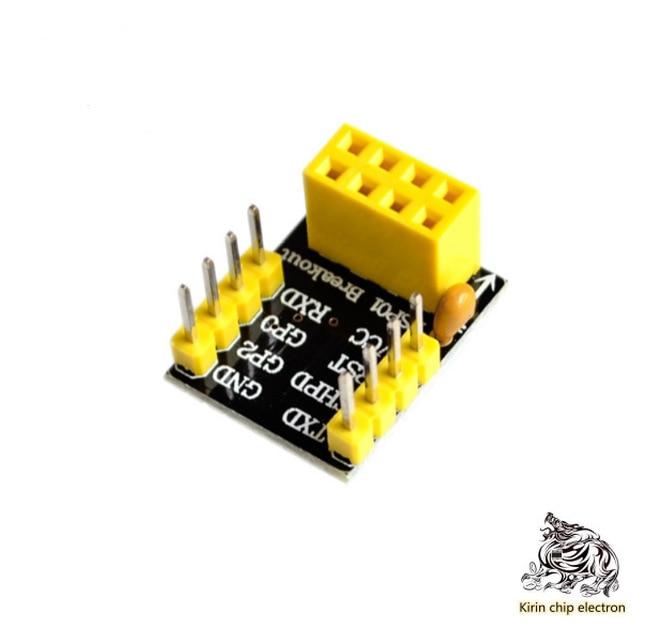 10pcs / Lot Esp01 / 01s Adapter Plate Bread Plate Adapter Esp8266 Esp01 Esp01s Without Welding