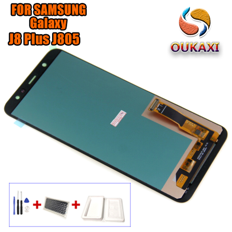 J8 Plus LCD For Samsung Galaxy j8 Plus 2018 LCD Touch Screen Digitizer Assembly For Samsung j8 j8 LCD Plus + j805 LCD