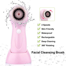 Face Cleansing Brush Electric Silicone Facial Cleanser Pore Massager With Case