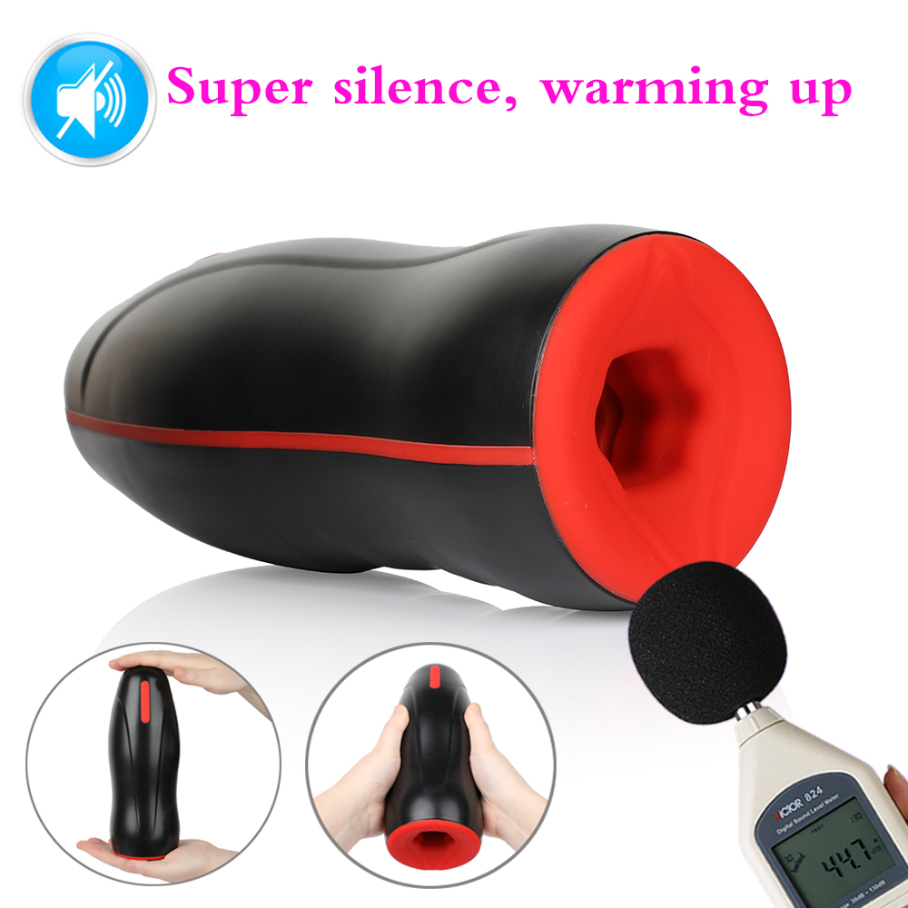<font><b>Sex</b></font> <font><b>Toys</b></font> Automatic Heating Rotation Telescopic Dildo <font><b>Vibrator</b></font> <font><b>for</b></font> Man Delay Stimulate Glans Massager <font><b>Adult</b></font> Male Masturbator image