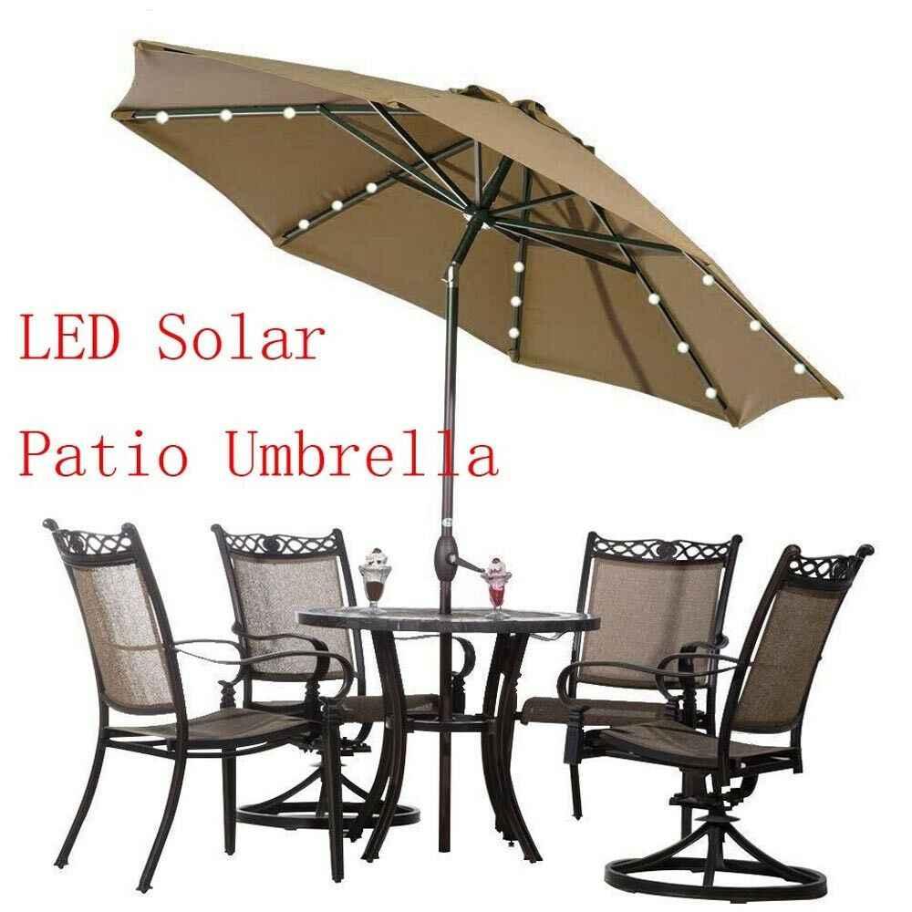 solar 24 led outdoor patio umbrella