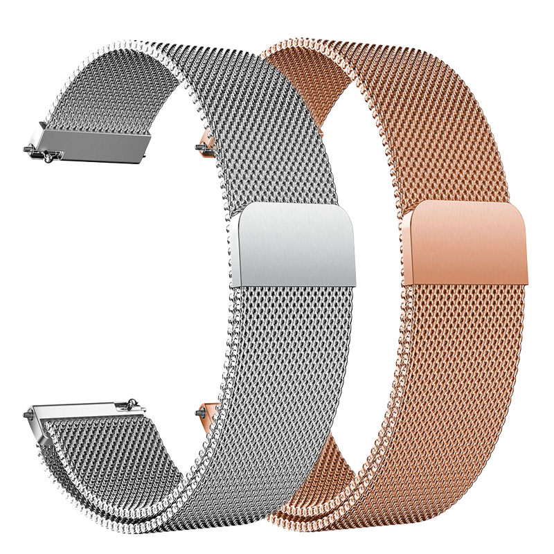 22mm For Huawei GT 2 46mm Active Sport Watch Strap Milanese Watchband For Huawei GT2 46mm Honor Watch Magic Metal Bracelet Men