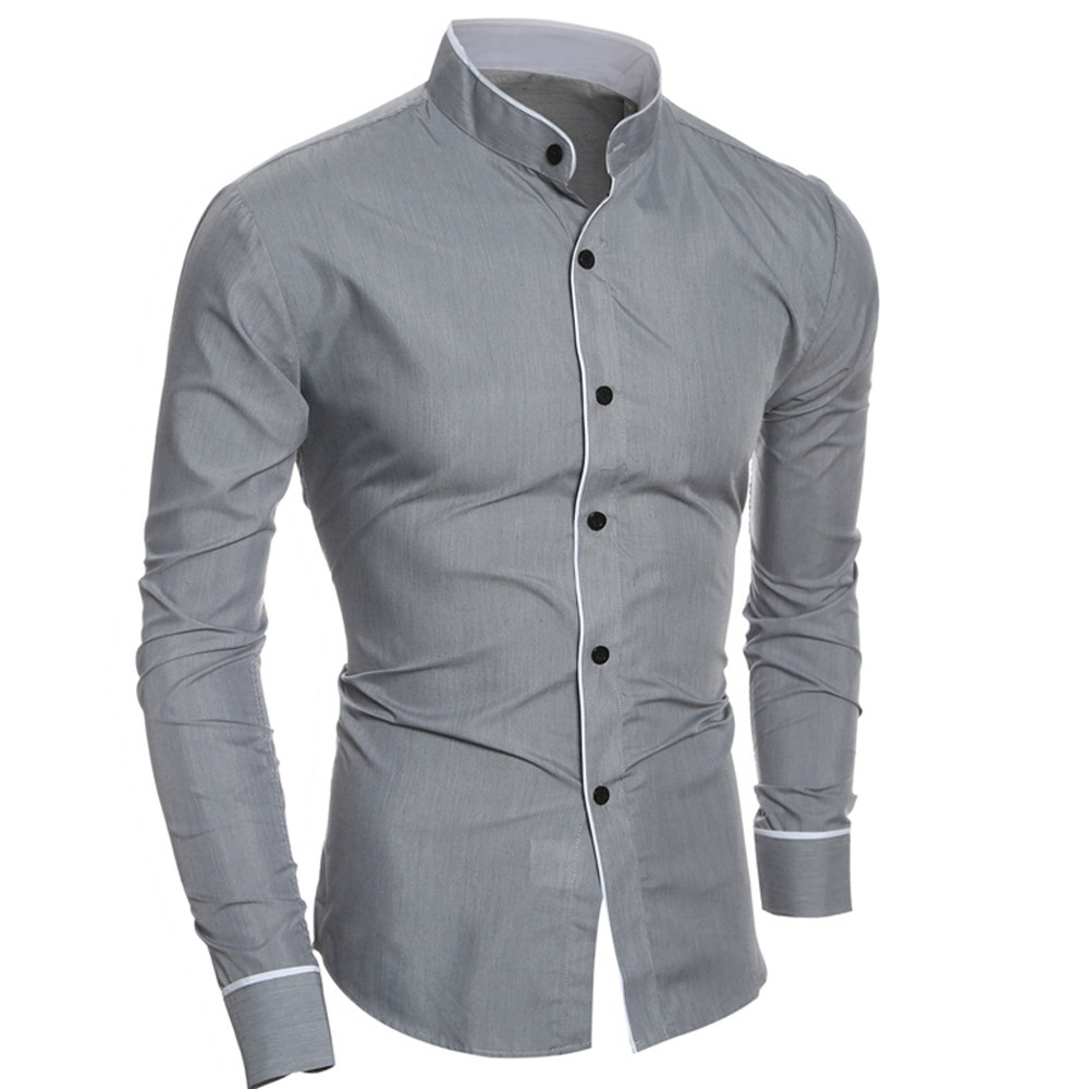 2019 Hot New Brand Men's Camisa Masculina Long Sleeve Male Shirt Business Slim Fit Social White Shirt Streetwear Casual Shirts