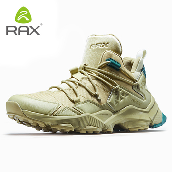 RAX Men's Hiking Shoes Lightweight Montain Shoes Men Antiskid Cushioning Outdoor Sneakers Climbing Shoes Men Breathable Shoes511 rax hiking shoes men waterproof trekking shoes lightweight breathable outdoor sports sneakers for men climbing leather shoes