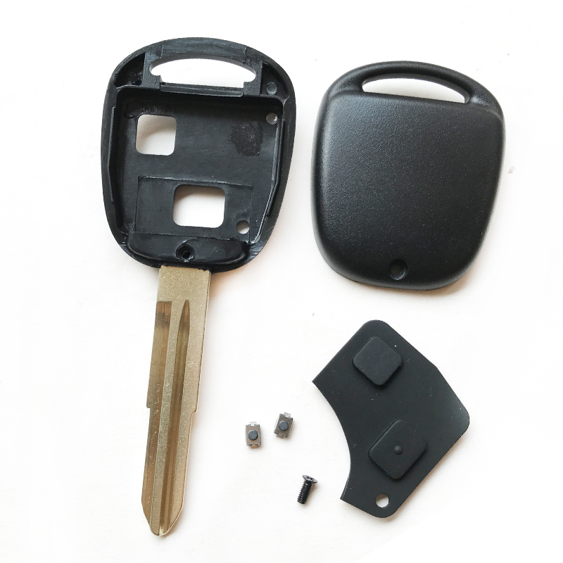 Image 5 - 2 button Remote key case shell For key toyota Yaris prado Corolla camry replacement Control Car Key cover with button rubber pad-in Car Key from Automobiles & Motorcycles