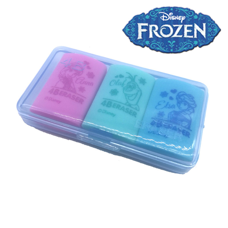 Frozen Boxed Cute Rubber Disney Painting And Writing Tools Student School Supplies Kids Eraser