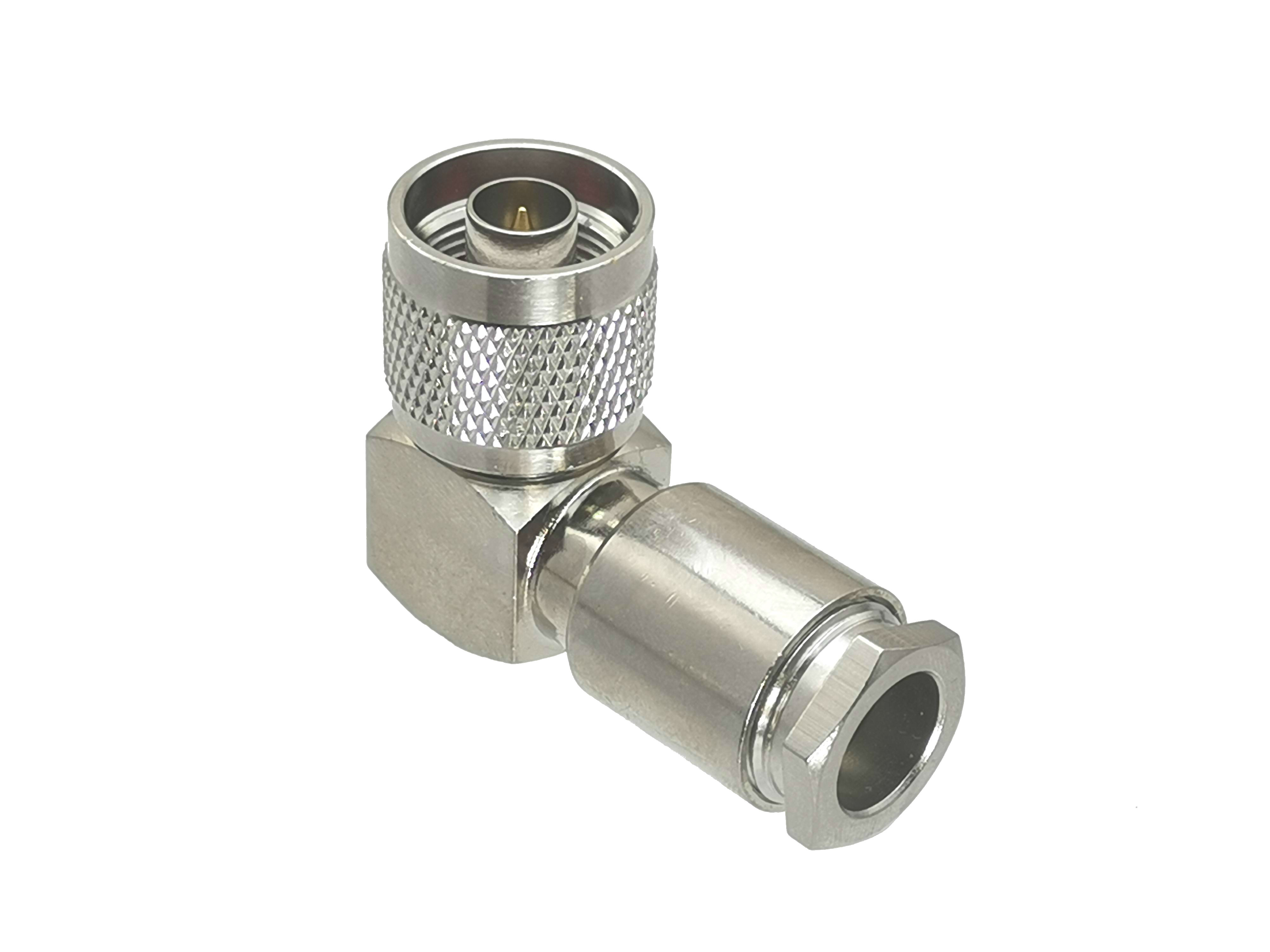 N Male Plug Right Angle Clamp RG8 165 LMR400 7D-FB RF Coaxial Connector