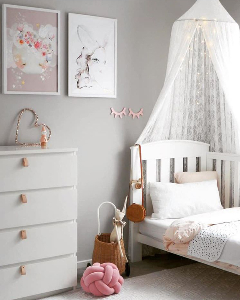 New INS Nordic Children's Room White Lace Dome Bed Account Bed Models Hot Sale CustomRoom Decor Toys