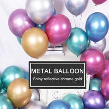 50pc/lot 12inch Metal Latex Balloons Balloon Air Balls Globos Happy Birthday Party Wedding Decoration Supplies