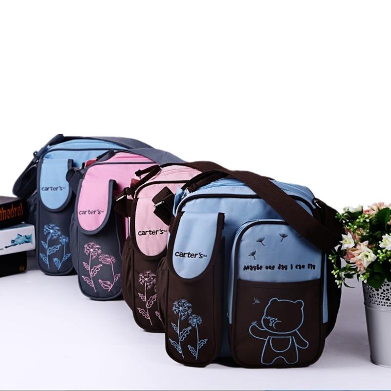 New Style Cartoon Cute Little Bear Multi-functional Fashion Diaper Bag Portable Shoulder Waterproof Mom MOTHER'S Bag