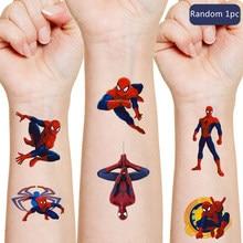 Autocollant Disney original à l'image de Spiderman, tatouage temporaire, modèle aléatoire, idéal comme cadeau d'anniversaire ou de Noël, 1 pièce,