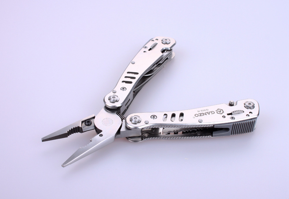 Tools : Ganzo G300 series G302-H Multi pliers 26 Tool in One Hand Tool Set Screwdriver Kit Portable Folding Knife Stainless pliers