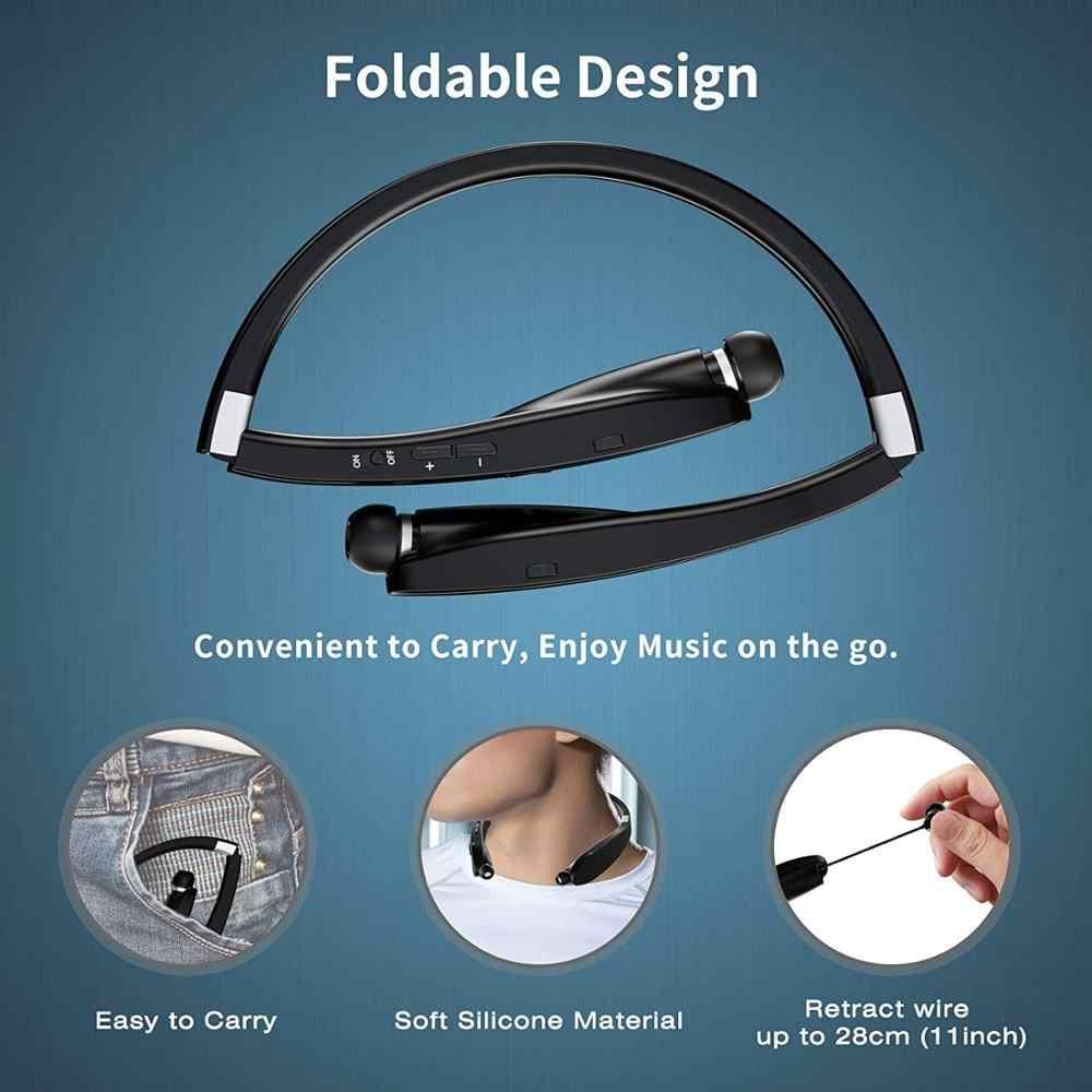 Amorno słuchawki na szyję Wireless Fone Bluetooth słuchawki z mikrofonem zestaw głośnomówiący słuchawki tws słuchawki z redukcją szumów