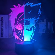 Hit Color Led Night Lamp Half Face Obito Uchiha and Kakashi Hatake for Bedroom Deco Kids Nightlihgt Table Led Night Light Naruto(China)