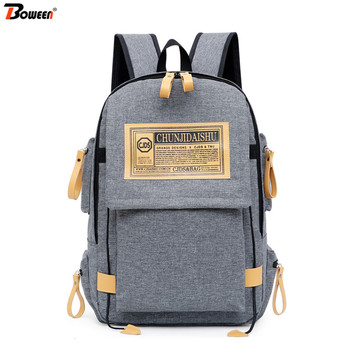 2020 Spring New Casual Men's Backpack School Bags Teenage Boys Student Back Pack Large Capacity High College Teen Bagpack Oxford фото